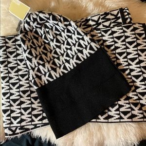 Michael Kors matching hat and scarf set